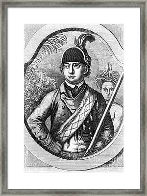 Robert Rogers, Colonial American Framed Print by Photo Researchers