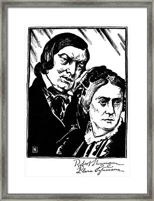 Robert Schumann (1810-1856) Framed Print by Granger