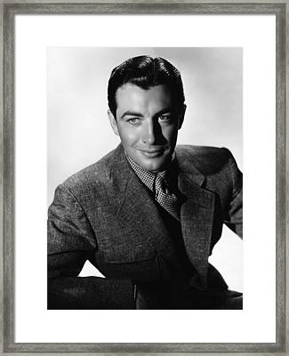 Robert Taylor, Mgm Portrait By Hurrell Framed Print by Everett