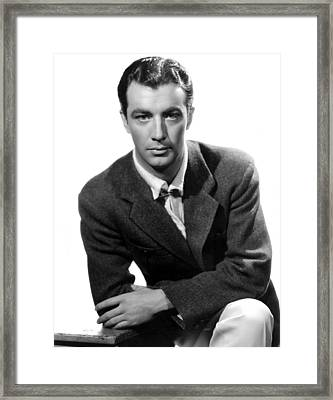 Robert Taylor, Photo Dated 05-14-1935 Framed Print by Everett