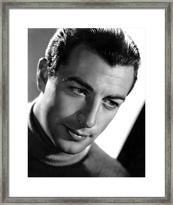 Robert Taylor, Photo Dated 09-18-1936 Framed Print by Everett
