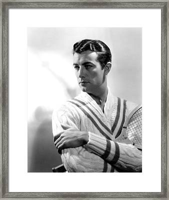 Robert Taylor, Photo Dated 1935. Photo Framed Print by Everett