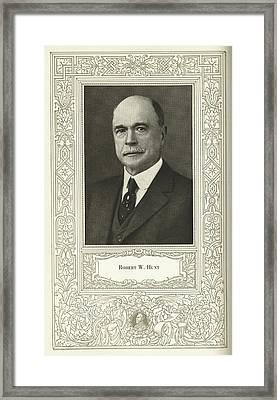 Robert W. Hunt, Us Engineer Framed Print