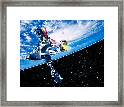 Robot Astronaut Framed Print by Victor Habbick Visions