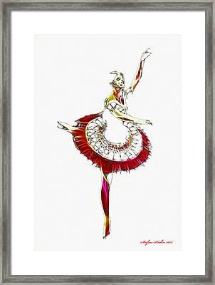 Robot Ballerina Framed Print by Steve K
