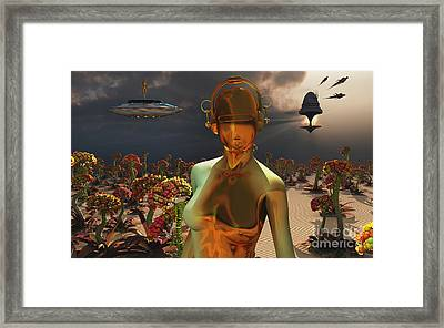 Robots Are Often Used As Farmers Framed Print