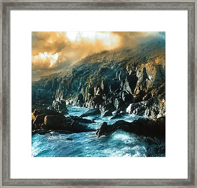 Roca De Percebes Framed Print