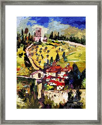 Rocca Maggiore Assisi Italy Framed Print by Ginette Callaway
