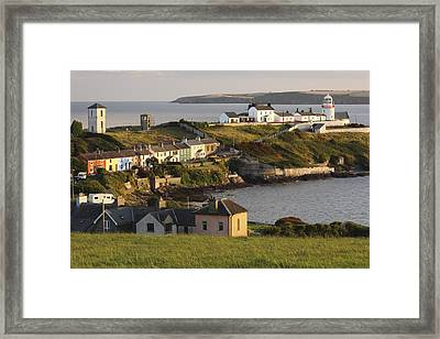Roches Point Lighthouse In Cork Harbour Framed Print by Trish Punch