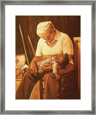 Rock-a-bye Grandma I Framed Print by Curtis James