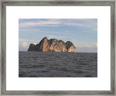 Rock Alone Framed Print by ilendra Vyas