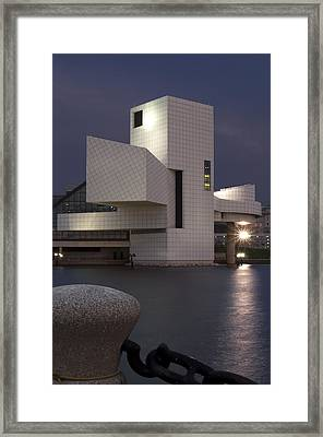 Rock And Roll Hall Of Fame At Dusk Framed Print by At Lands End Photography