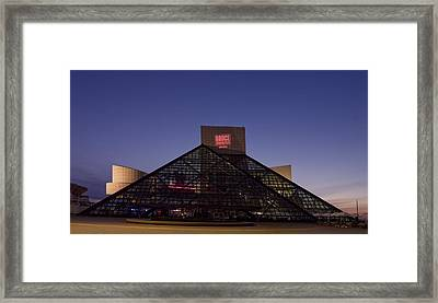Rock And Roll Hall Of Fame Cleveland Framed Print by Everett
