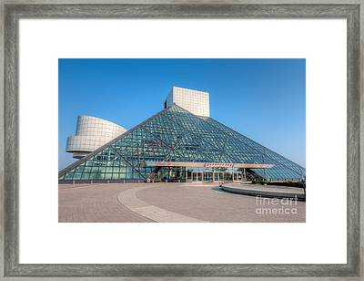 Rock And Roll Hall Of Fame II Framed Print by Clarence Holmes