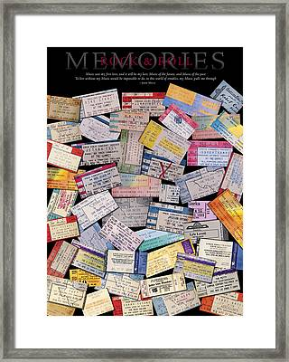 Rock And Roll Memories Framed Print by Stephen Anderson