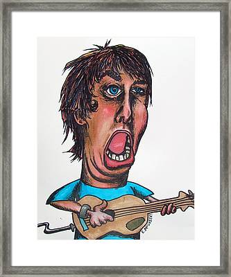 Rock And Roll Rebel Framed Print by Eric McGreevy