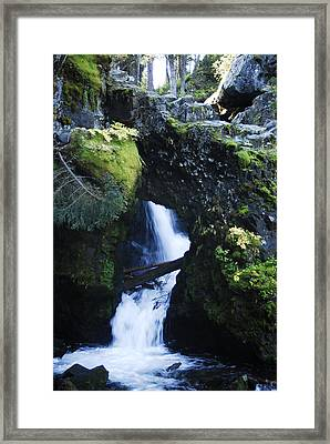 Rock Arch Falls Framed Print by Arlyn Petrie