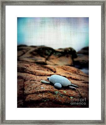 Rock Art Framed Print by Perry Webster