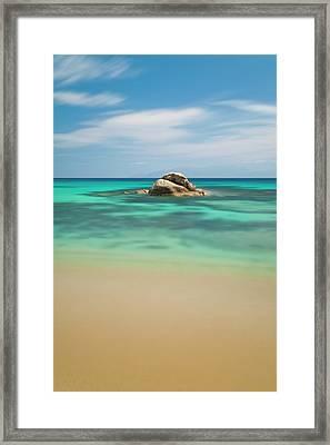 Rock At Paranga Beach Framed Print by Vasilis Tsikkinis photos