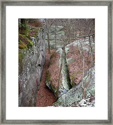Framed Print featuring the photograph Rock Calving by Paul Mashburn