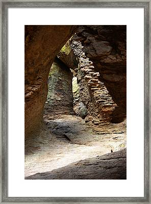 Framed Print featuring the photograph Rock Chamber by Vicki Pelham