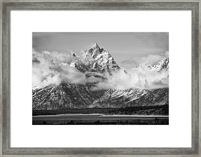 Rock Chuck Peak   Jackson Lake Wyoming Framed Print by Gordon Ripley
