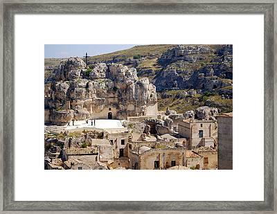 Rock Church Santa Maria Idris Framed Print