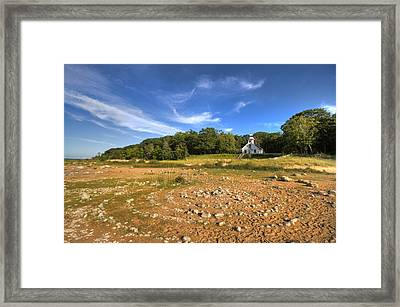 Rock Circles Framed Print by Coby Cooper