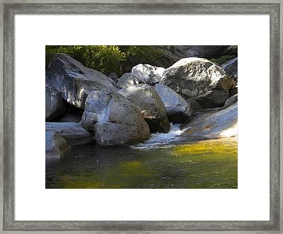 Rock Creek Framed Print by Frank Wilson
