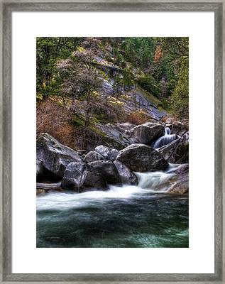 Rock Creek Framed Print by Ren Alber
