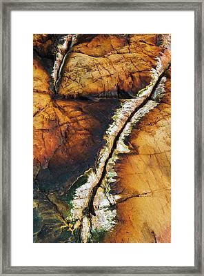Rock Detail, Killarney Provincial Park Framed Print by Mike Grandmailson