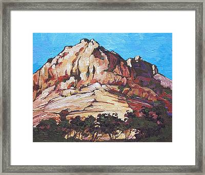 Rock Face 2 Framed Print by Sandy Tracey