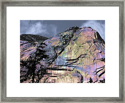 Rock Face On The Coquihalla Framed Print by Barbara  White