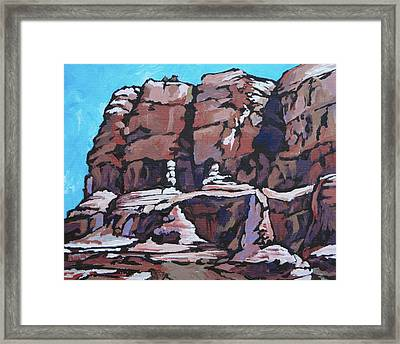 Rock Face Framed Print by Sandy Tracey
