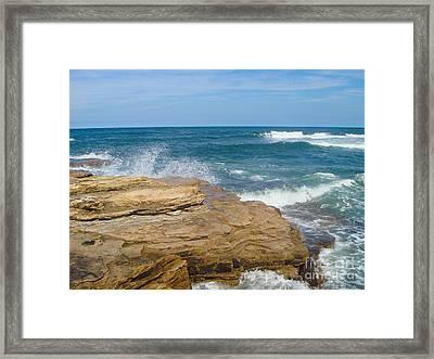 Rock Formation Dunbar Framed Print