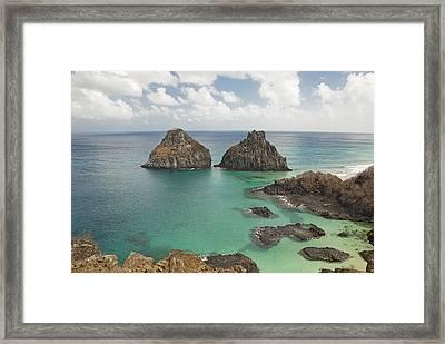 Rock Formation In Fernando De Noronha Framed Print by © Jackson Carvalho