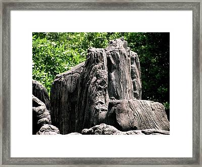 Rock Formation Framed Print by Maria Urso