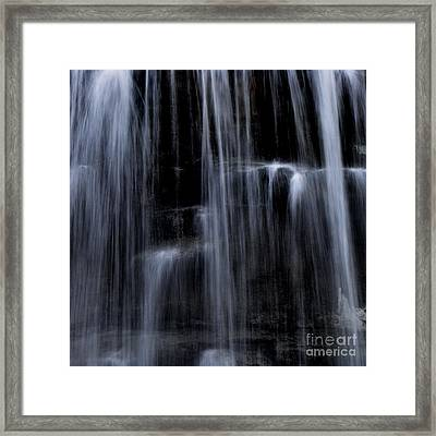 Rock Glen Water Falls Framed Print
