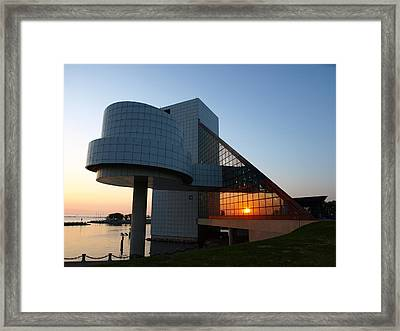 Rock Hall At Sunset Framed Print by Allan Wrona