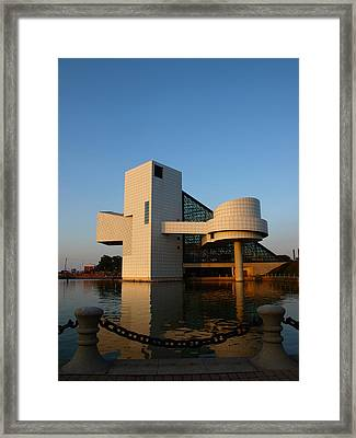 Rock Hall In The Evening Framed Print by Allan Wrona