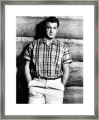 Rock Hudson, 1950s Framed Print by Everett