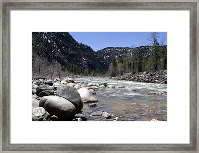Framed Print featuring the photograph Rock In The River by Lorraine Devon Wilke