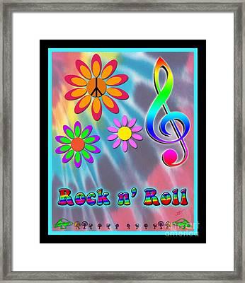 Rock Music Poster Framed Print