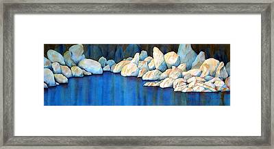 Rock Of Ages Framed Print by Lyn DeLano