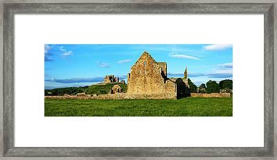 Rock Of Cashel, Hore Abbey, Cashel Framed Print by Peter Zoeller