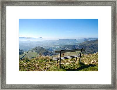 Rock Of Vellani Framed Print by Alain Cachat