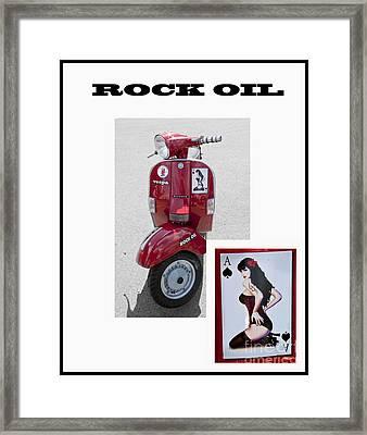 Rock Oil Framed Print by Trevor Fellows