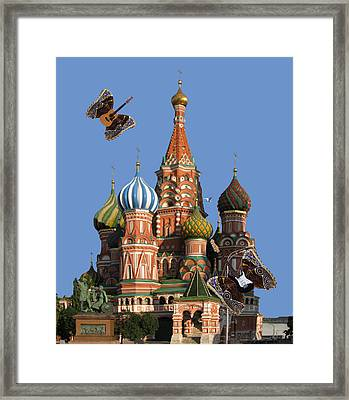 Rock On Moscow Framed Print