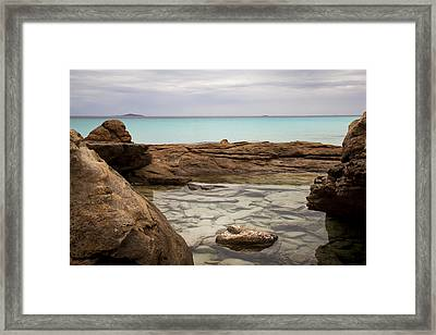 Framed Print featuring the photograph Rock Pool by Serene Maisey