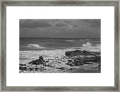 Rock Reef Framed Print by Richard Nickson
